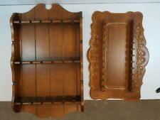 Vintage Wooden Souvenir Spoon Collector Wall Rack Display Holder Hold 40 Spoons