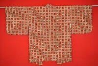 Vintage Japanese Kimono Silk Antique BORO HAORI Kusakizome Dyed/AD39/450