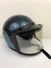 Vintage 1970's Njl Metallic Glitter Snowmobile Helmet w/ Sno Rider Visor