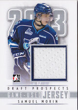 2013 ITG Draft Prospects Samuel Morin Game Used Jersey Rimouski Oceanic 12-13
