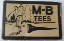 VINTAGE EMPTY BOX OF M-B GOLF TEES WITH A KNICKERED GOLFER