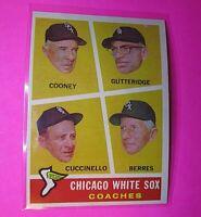 1960 Topps #458 Chicago White Sox Coaches Cuccinello NmMt High Grade Sharp!