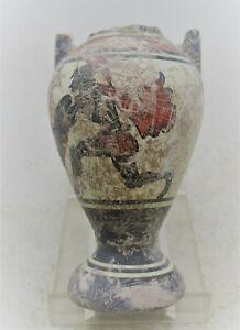 ANCIENT GREEK DECORATED TERRACOTTA AMPHORA VESSEL (DAMAGE)