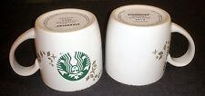 TWO 2 Starbucks Holiday Collection Siren Snowflakes 2013 Christmas Coffee Mug