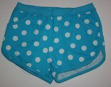 NUEVO Hanna ANDERSSON sin cierres azul con Lunares Pantalones cortos Bolsillos