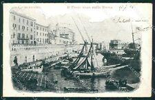 Roma Civitavecchia Porto PIEGHINA postcard cartolina KF3453