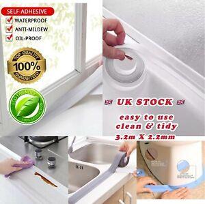 Bathroom Toilet Kitchen Basin Caulk Sealing Strip Adhesive Mold Waterproof Tape