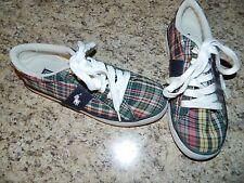 Boy's Ralph Lauren Plaid Tennis Shoes Size 4