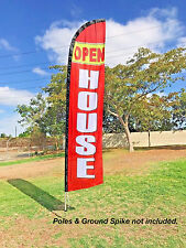 Flag Only- WINDLESS Swooper Feather Full Sleeve Banner Sign - OPEN HOUSE