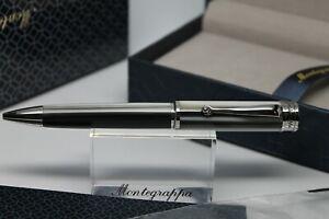 MONTEGRAPPA - Ducale Murano Sabbis Ballpoint Pen Stainless Steel Trim