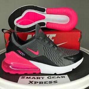 Nike Air Max 270 GS Smoke Gray Hyper Pink Sneakers 7Y Women's 8.5 943345-031