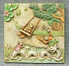 Harmony Kingdom Picturesque Swing Time Byron'S Secret Garden Tile Plaque Pxgb2