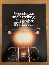 1980 NOS Vintage Harley Davidson 80ci Tour Glide Brochure AMF H-D 5 Speed V-Twin