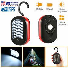 2 Pack 27 LED Compact Work light Camping Outdoor Flashlight Magnet Hook Bundle