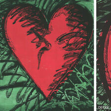 """38W""""x46H"""" RANCHO WOODCUT HEART by JIM DINE - VALENTINE'S DAY SERIGRAPH CANVAS"""