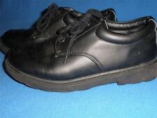 LADIES SCHOOL /CASUAL SHOES BLACK LEATHER LOOK SIZE 5