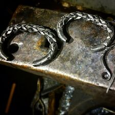 Hand Forged Skyrim Inspired Viking Style Dragon Scale Arm Ring Bracelet