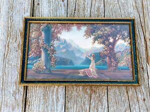 "Art Deco Atkinson Fox ""Dawn"" framed lithograph"
