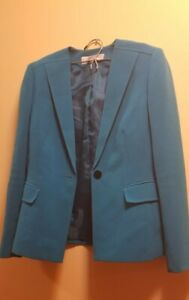 TAHARI SUIT GREEN ONE-BUTTON AND PANTS BLACK WOMENS SIZE 2p CAREER