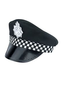 Adult Policeman  Peak Cap Police Costume Accessory Cop Hat For Fancy Dress