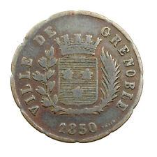 Jeton de Nécessité Soupe Grenoble 1850 Zinc