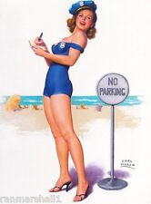 1940s Pin-Up Girl That's the Ticket Cop Picture Poster Print Art Pin Up