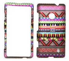 Tribal Design Rubberized Snap on Protective Cover Case for Nokia Lumia 521