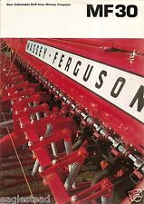 Farm Equipment Brochure - Massey Ferguson - MF 30 -  Drill (FB967)