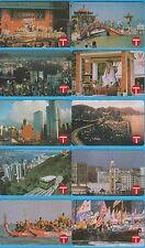HONG KONG PHONECARD: 1990 $50 Scenery Series set of 10 cards HK130937