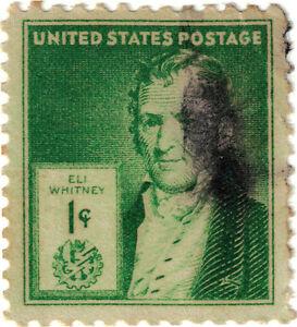 (USA221) 1940 1c green Eli Whitney SG856