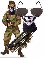 Zombie Mostro SINISTRE Clown Ragazzi Bambini Bambino Halloween Costume 7-12
