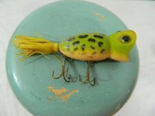 Vintage Fred Arbogast Hula Popper Fishing Lure 2 Hook Fish Cast Surface Bait USA