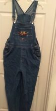 Disney Winnie the Pooh & Tigger Jeans Overalls Carpenter Style Size Large