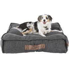 "Harmony Grey Lounger Memory Foam Dog Bed, 28"" L x 28"" W"