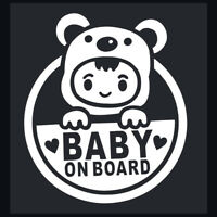 Baby On Board Lovely Car Window Vinyl Sticker Tail Warning Sign Decal WHITE