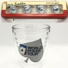 * New in Box *  World Poker Tour Tervis Tumblers Set/4 12 oz
