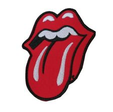 Rolling Stone Tongue Retro Music Embroidered Hook and Loop Patch