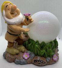 Disney Sneezy Solar Globe Garden Light Snow White & The Seven Dwarfs New