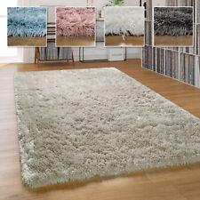 Hochflor Teppich Wohnzimmer Shaggy Pastell Einfarbig Weich Flauschig Langflor