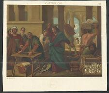 Lamina grande antique de Jesus santino image pieuse estampa