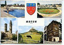 CP 71 Saône-et-Loire - Macon - Multivues couleurs - Blason