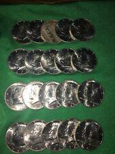 Roll 1964 D Kennedy half dollar 90% Silver (20 coins)