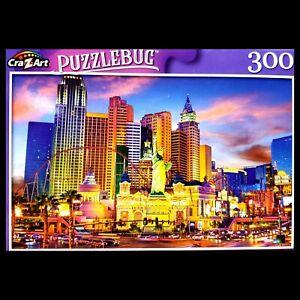 300 Piece Jigsaw Puzzle NIB 18 in x 11 in Puzzlebug, Vegas Strip New York Hotel