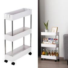 3-Tier Slim Slide Out Storage Kitchen Pull Out Cart Trolley Shelf Rack Organizer