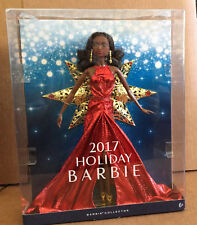 2017 Barbie Holiday Christmas Doll African American NEW