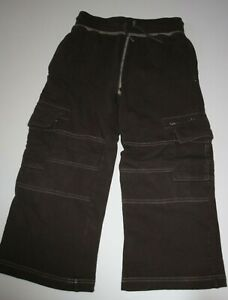 Used Hanna Andersson Boys 120 6 yr Pants Brown Soft Knit Pull On Sweatpants