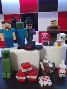 Minecraft Edible Cake Topper Decorations
