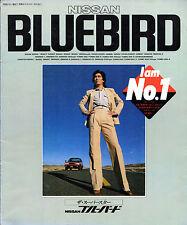 Nissan Bluebird 1981 Japanese Market JDM Sales Brochure Sedan Hardtop