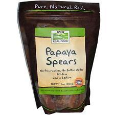 Papaya Spears 12 oz (340 g) by Now Foods
