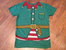mens size S SMALL head elf green xmas christmas t- shirt cotton Winter